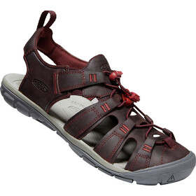 Keen Clearwater CNX Leather Sandals Women wine/red dahlia